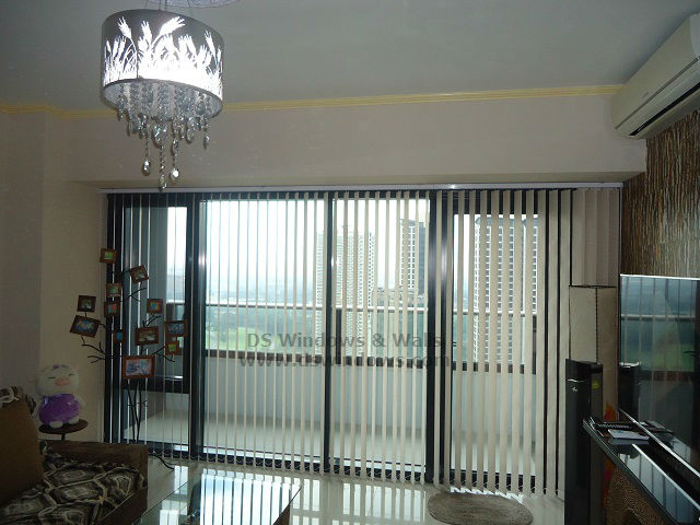 Fabric Vertical Blinds for Elegant Penthouse Apartment Unit - Quezon City
