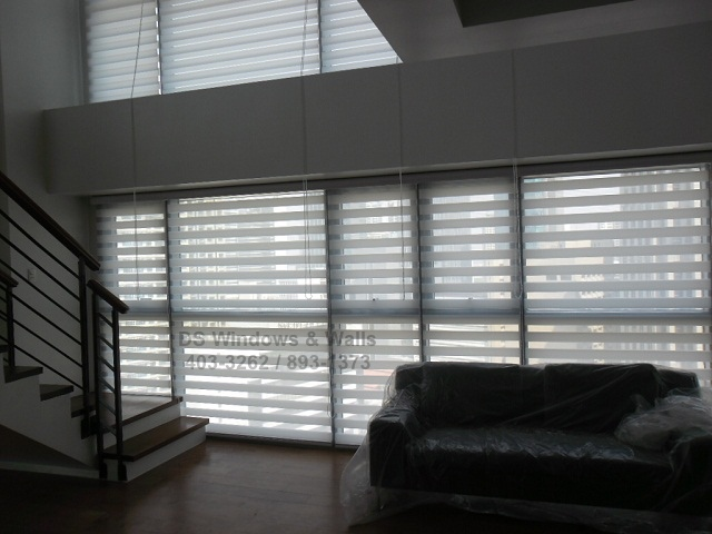 High Windows White Combi Blinds