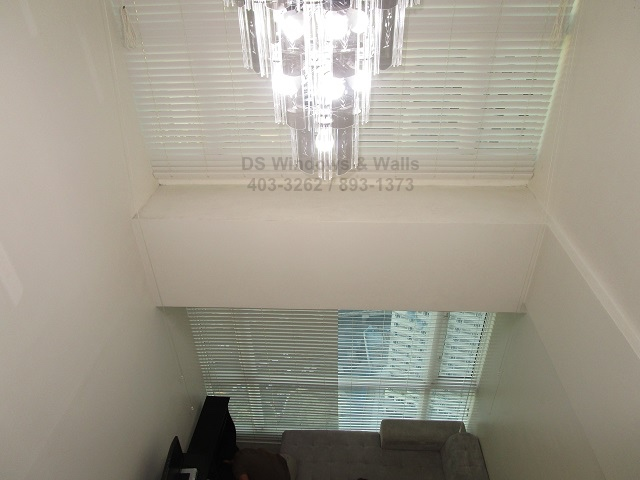 Loft Type Condo Wood Blinds