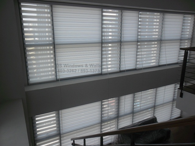 Loft Type White Combi Blinds