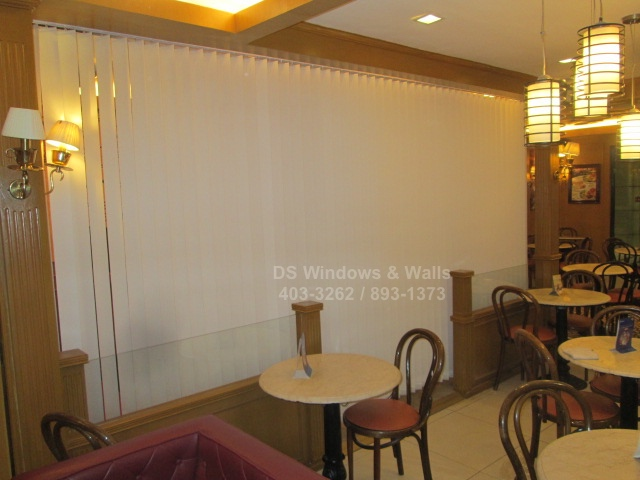 Coffee Shop Fabric Vertical Blinds