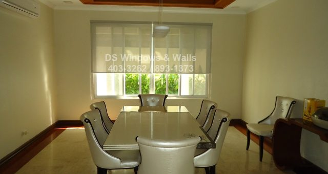 Creating A Spacious Living Area And Dining Room Using Roller Blinds