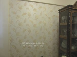 Vinyl wallpaper vines design