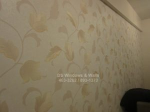 Vinyl wallpaper vines leaves design
