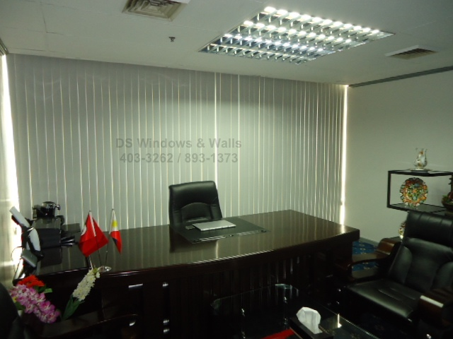 Blinds for executive office