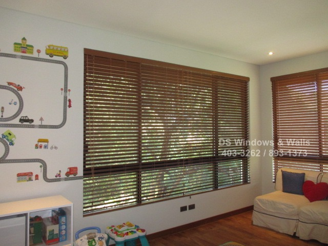 Wood Blinds at Mckinley Hills Taguig