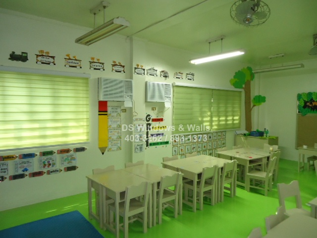 Apple green combi blinds for schools
