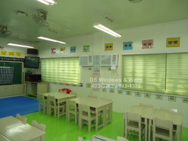 Window coverings for preschool